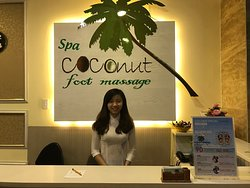 Coconut foot massage
