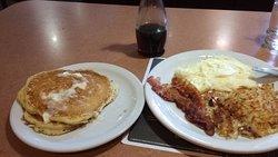 Pancake combo breakfast
