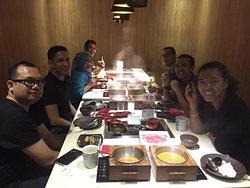 Celebrating my birthday with friends