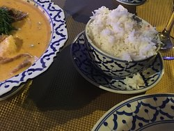 Yellow Chicken curry with white rice