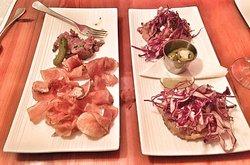 beef tartar & chicken tostadas