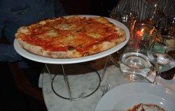 Cheese and tomato garlic bread.