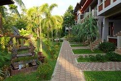 Hôtel agréable avec jardin