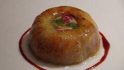Manzana y foie gras al aceite de vainilla