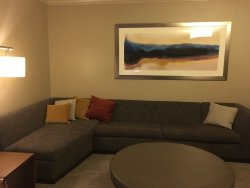 Great girls night out amenities!  Big sectional and flat screen tv for our pre-party.  Love thei