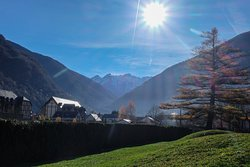View from a play area in Luchon, a few minutes' walk away from the chalet.