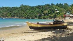The beach 200 m from Castara Retreats
