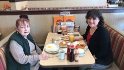 Great breakfast before leaving for PA.     My daughter and I stopped for breakfast before I embarked on long drive home.