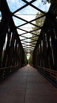 Great path under bridge