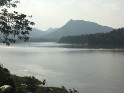 Views of the mekong from the pool area