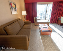 The King Executive Suite at the Hilton Charlotte Center City