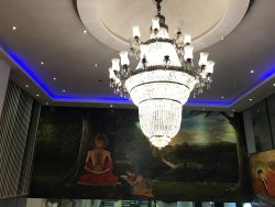 Lovely Buddha paintings in lobby area
