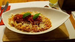 Homemade tagliatelle meatball lamb (Special)