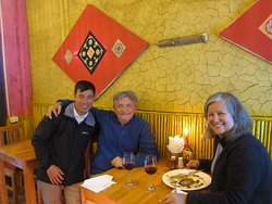 Australian couple that's was supported the restaurant very much after couple days openning.
