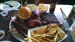 Smokehouse Sampler - plenty for 2 of us with some leftovers