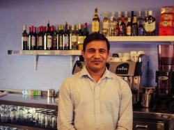 This is Praveen, the waiter with an everlasting cheerfulness!