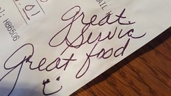 A nice note from one of our visitors!
