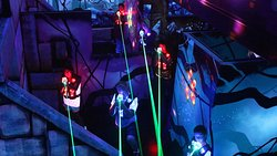Multi level arena for family fun in our Laser Tag