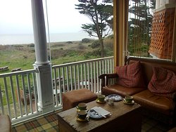 Loved this little corner of The Beach House where we had very nice cappuccinos, tea and cakes