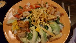 Chipotle Lime Ranch Salad with Shrimp