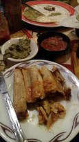 Tamales, guacamole, salsa, quesadilla