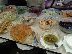 Buffet de entradas/saladas