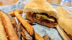 """Cuban sandwich - not technically a pure """"Cuban"""", but an excellent sandwich!"""