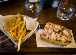 Lobster Roll and french fries.