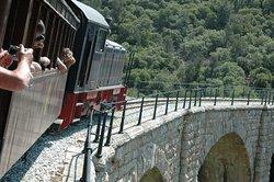 Blick aus dem Zug der Pilionbahn