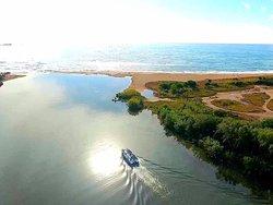 Navette conduisant les campeurs à la plage