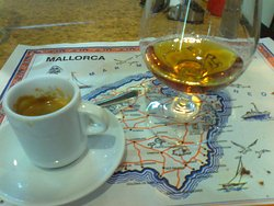 Cafe solo and a large brandy!
