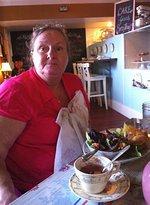 Mom just enjoying a nice lunch :)