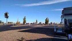 We had a corner site. Nice paved pads