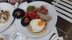 Breakfast looked better than it tasted