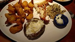 Lobster Ultimate Feast with extra shimp instead of the scampi