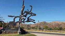 Til Til, Provincia de Chacabuco, Chle. Escultura a Manuel Rodrìguez.