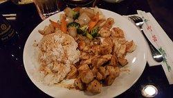 Chicken & Shrimp Hibachi Dinner