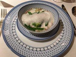ほうぼう(白身魚)の「西洋風・茶碗蒸し仕立て」
