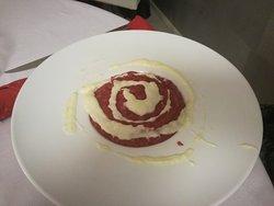 risotto alla rapa rossa e fonduta di parmigiano