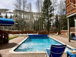 Gorgeous pool was 103 degrees for lovely apres-ski soaking.