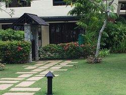Garden gate to ground floor room in Rasa Wing