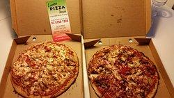 Chicken and Supreme thin base pizza