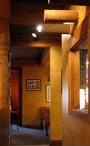 Our interior is designed after typical Albuquerque and Santa Fe construction.