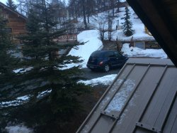 Last part of route down to Chalet la Clautre taken from upstairs twin bedroom window