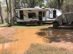 Standing water in my campsite