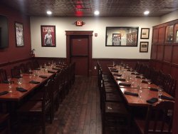 An event room perfect for meetings, gathering of family and friends, and networking events.