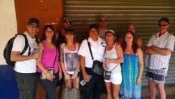 """Touring our Edmonton amigos in ZiHUA, had to make a stop by our amigo """"el huero"""" Transit Police."""