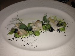 Fabulous fish course from a taster menu