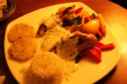 Awesome Grilled Fish with Mashed Potatoes,