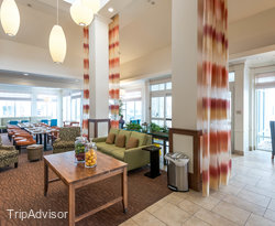 Lobby at the Hilton Garden Inn Salt Lake City Airport